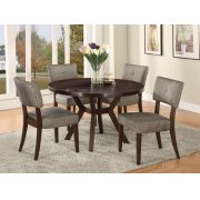 "ESPRESSO DINING TABLE, 48""DIA Product Image"