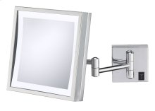 Single-sided LED Square Wall Mirror - Hardwired