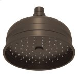 "RohlTuscan Brass 6"" Bordano Rain Anti-Cal Showerhead"