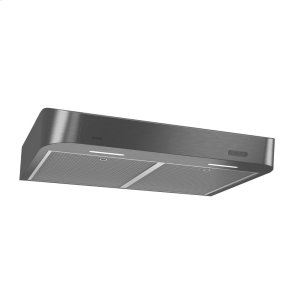 BroanBroan® 30-Inch Convertible Under-Cabinet Range Hood w/ Easy Install System, 250 CFM, Black Stainless
