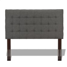 Strasbourg Upholstered Adjustable Headboard Panel with Solid Wood Frame and Button-Tufted Design, Charcoal Finish, Twin