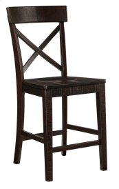 Gerlane - Dark Brown Set Of 2 Dining Room Barstools
