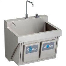 "Elkay Stainless Steel 30"" x 23"" x 26"", Wall Hung Single Bowl Surgeon Scrub Sink Kit"