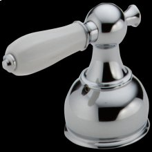 Chrome Porcelain Lever Handle Set - Roman Tub
