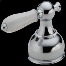 Chrome Porcelain Lever Handle Set - Roman Tub
