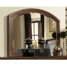 Laughton Rustic Dresser Mirror With Rounded Edge