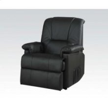 Bk Pu Recliner W/lift,massage