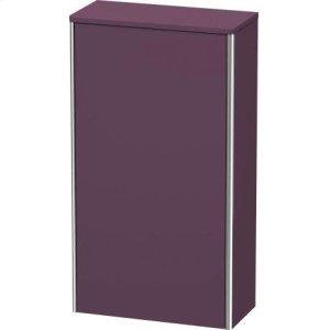 Semi-tall Cabinet, Aubergine Satin Matt Lacquer