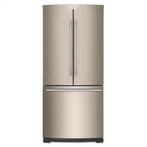 30-inch Wide Contemporary Handle French Door Refrigerator - 20 cu. ft. - FINGERPRINT RESISTANT SUNSET BRONZE