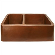 Farm House Kitchen Offset Double Bowl