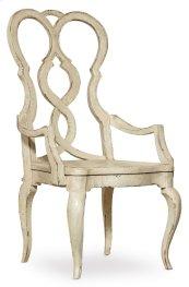 Dining Room Auberose Splatback Wood Seat Arm Chair