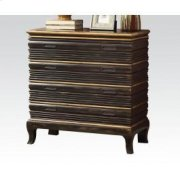 Antique Gold/bk Console Table Product Image