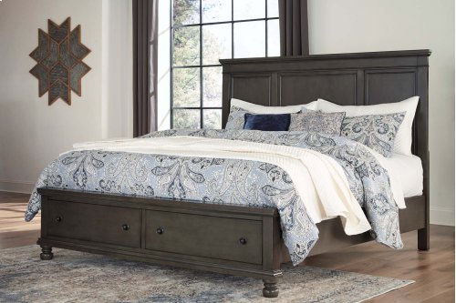 Devensted - Dark Gray 3 Piece Bed Set (King)