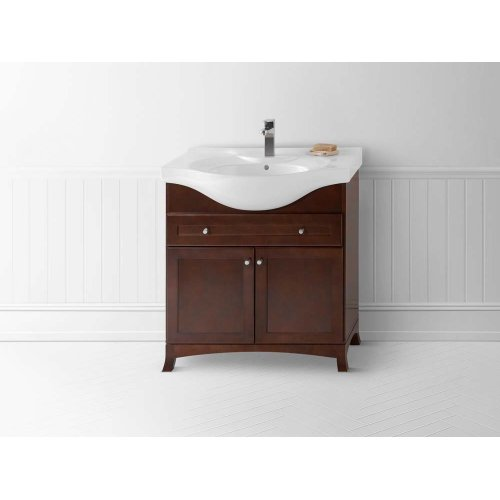 """Adara 32"""" Ceramic Sinktop with Single Faucet Hole in White"""