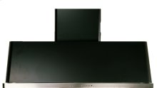 """Matte Graphite with Stainless Steel Trim 48"""" Range Hood with Warming Lights"""