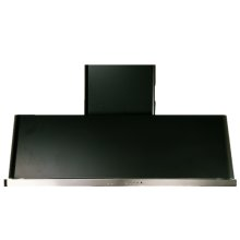 "Matte Graphite with Stainless Steel Trim 48"" Range Hood with Warming Lights"