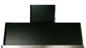 """Matte Graphite with Stainless Steel Trim 60"""" Range Hood with Warming Lights"""