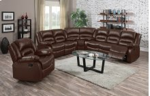 Branson Brown Leather Reclining Sectional