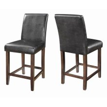 Contemporary Dark Brown Parsons Counter-height Stool