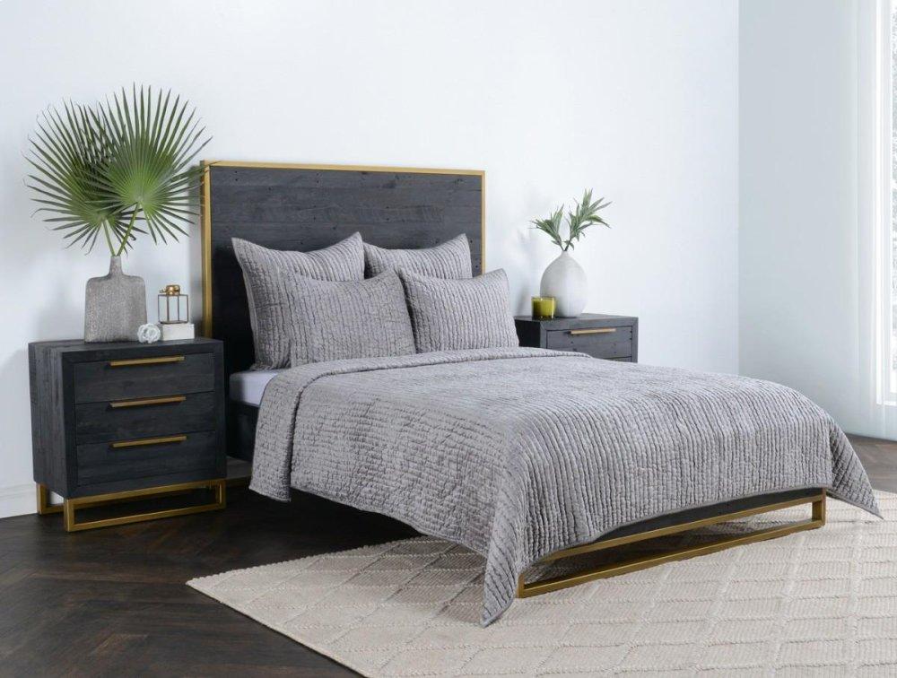 Bari Bedroom Furniture White Bedroom Bari Velvet Gray Standard Sham Aku Ganteng V180033 In By Classic Home In Eureka Ca Bari Velvet Gray Standard