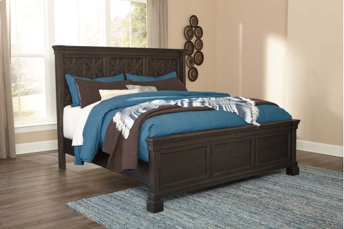 Tyler Creek - Black/Gray 3 Piece Bed Set (Cal King)