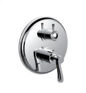"1/2"" Thermostatic Trim With 3-way Diverter Trim (shared Function) in Polished Chrome"