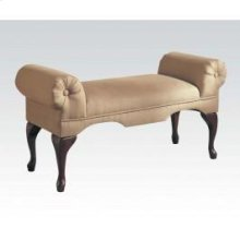 Beige Mfb Rolled-arm Bench