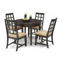 Round Dining Table - Walnut Finish