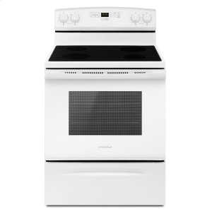 30-inch Electric Range with Extra-Large Oven Window White - WHITE