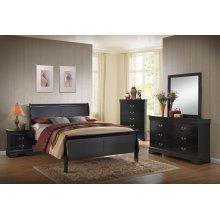 Louis Philippe Black Queen Bedroom Set