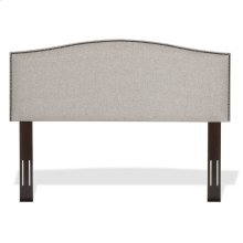 Carlisle Upholstered Headboard with Adjustable Height and Sloping Nailhead Trim, Grande Pearl Finish, Full / Queen