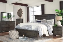B624  Devensted - Dark Gray 5 Piece Bedroom Set