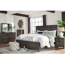 Devensted - Dark Gray 5 Piece Bedroom Set