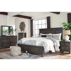 Ashley Furniture Devensted - Dark Gray 5 Piece Bedroom Set