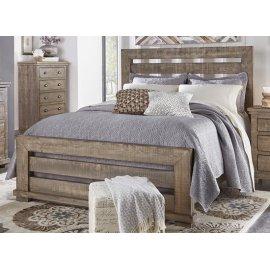 6/6 King Slat Bed - Weathered Gray Finish