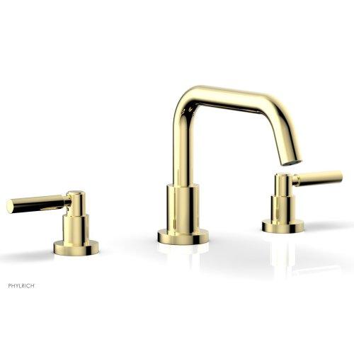 BASIC Deck Tub Set - Lever Handles D1132D - Polished Brass