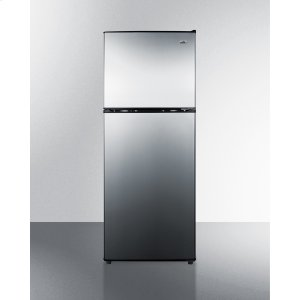 SummitTwo-door Cycle Defrost Refrigerator-freezer In Slim Width With Stainless Steel Doors and Black Cabinet