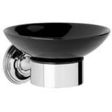 City Bronze Black ceramic soap holder