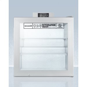 SummitCommercially Approved Nutrition Center Series Compact Glass Door All-freezer With Front Lock and Nist Calibrated Digital Temperature Display