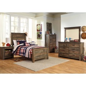 Ashley Furniture Trinell - Brown 5 Piece Bedroom Set