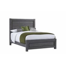 5/0 Queen Panel Bed - Distressed Dark Gray Finish