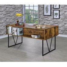 Analiese Industrial Antique Nutmeg Writing Desk