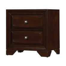 Jaxson Transitional Cappuccino Two-drawer Nightstand