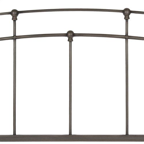 Fenton Metal Headboard Panel with Gentle Curves, Black Walnut Finish, Full