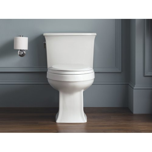 Black Black One-piece Elongated 1.28 Gpf Toilet With Aquapiston Flush Technology and Left-hand Trip Lever