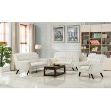 Elston Beige Mid-Century Fabric Sofa