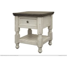 1 Drawer, Shelf End Table