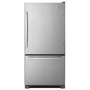 Amana33-inch Wide Bottom-Freezer Refrigerator with EasyFreezer Pull-Out Drawer - 22 cu. ft. Capacity - Stainless Steel