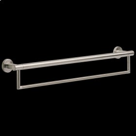 """Stainless 24"""" Contemporary Towel Bar with Assist Bar"""
