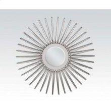 "Silver Accent Mirror, 45""d"